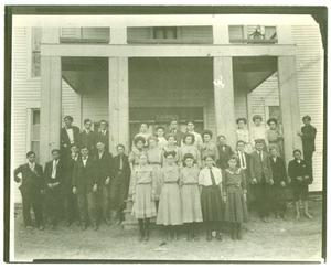 Primary view of object titled '[Hallsville High School Graduating Class]'.