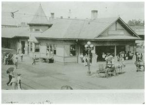 Primary view of object titled '[Longview Railroad Depot]'.