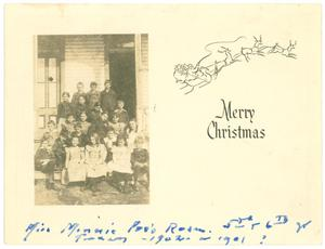 Primary view of object titled '[Christmas Card]'.