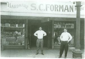 Primary view of object titled '[S. C. Forman Hardware Store]'.