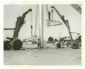 Primary view of object titled '[LeTourneau Dome Construction]'.