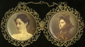 Primary view of object titled '[Framed Photographs of Lydia and Dora Clement]'.