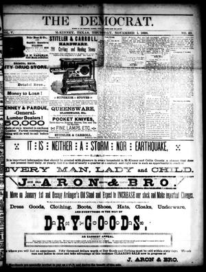 The Democrat. (McKinney, Tex.), Vol. 5, No. 40, Ed. 1 Thursday, November 1, 1888
