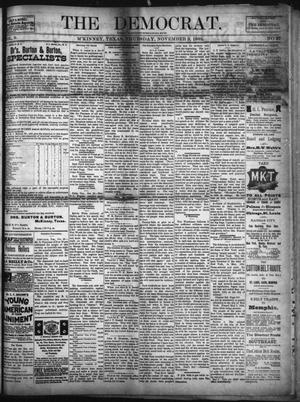Primary view of object titled 'The Democrat. (McKinney, Tex.), Vol. 9, No. 27, Ed. 1 Thursday, November 3, 1892'.