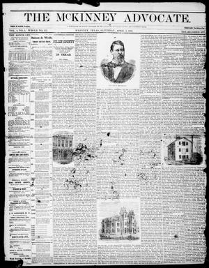 Primary view of object titled 'The McKinney Advocate. (McKinney, Tex.), Vol. 4, No. 1, Ed. 1 Saturday, April 3, 1880'.
