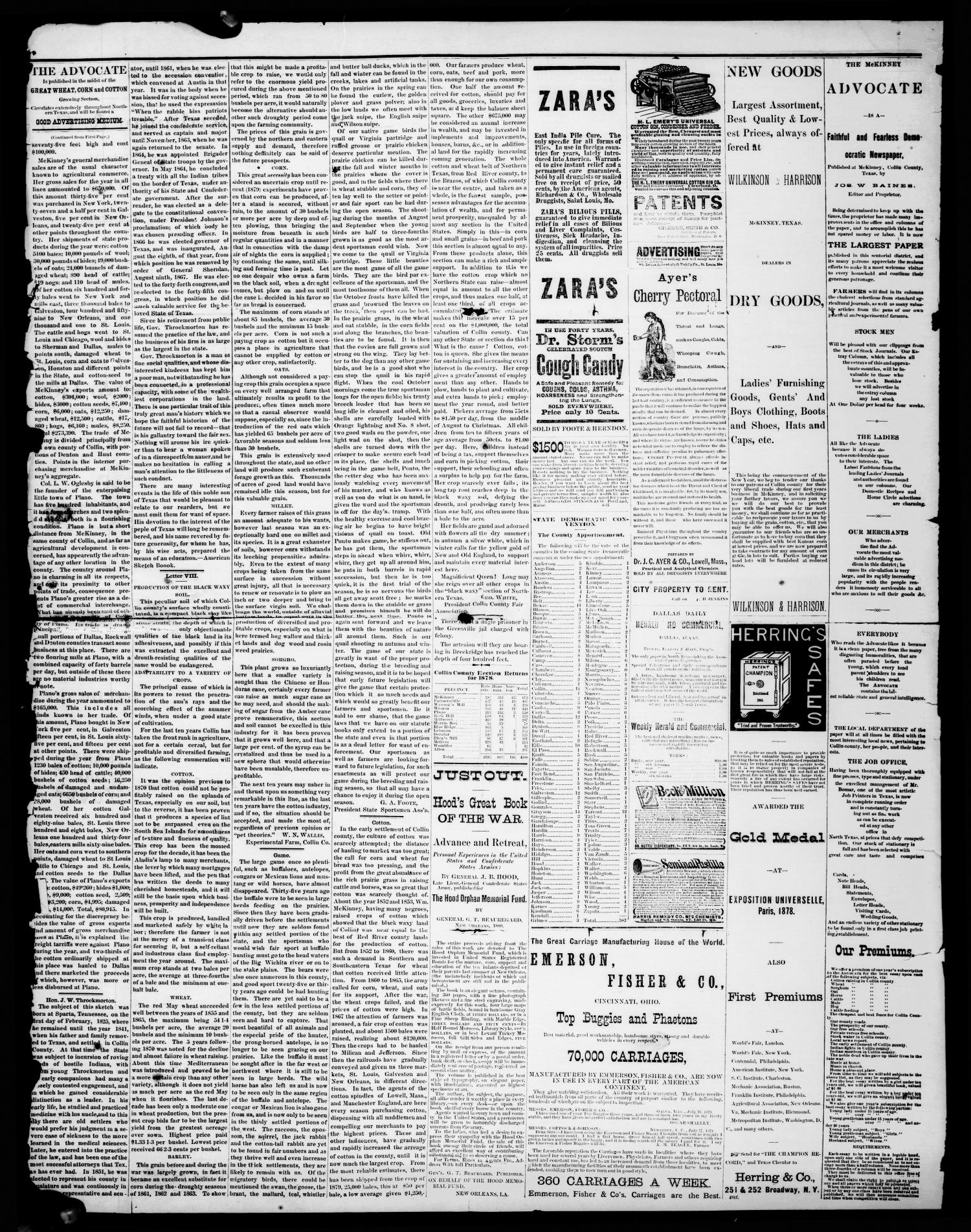 The McKinney Advocate. (McKinney, Tex.), Vol. 4, No. 1, Ed. 1 Saturday, April 3, 1880                                                                                                      [Sequence #]: 4 of 4