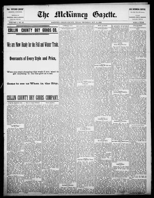 Primary view of object titled 'The McKinney Gazette. (McKinney, Tex.), Vol. 1, No. 23, Ed. 1 Thursday, October 14, 1886'.