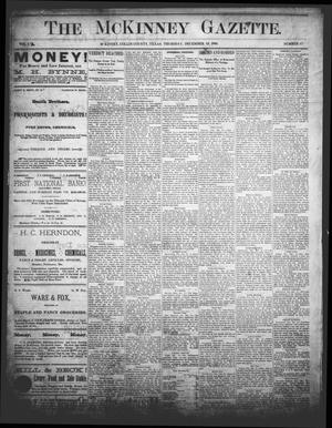 Primary view of object titled 'The McKinney Gazette. (McKinney, Tex.), Vol. 1, No. 47, Ed. 1 Thursday, December 19, 1889'.