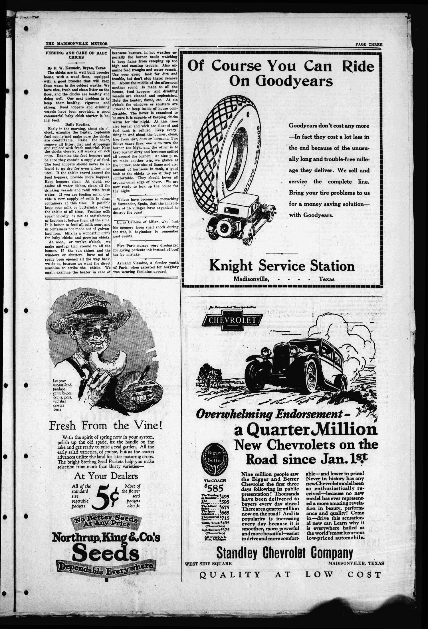 The Madisonville Meteor - And Commonwealth - (Madisonville, Tex.), Vol. 34, No. 50, Ed. 1 Thursday, March 8, 1928                                                                                                      [Sequence #]: 3 of 8