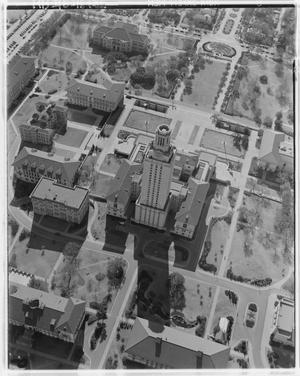 Primary view of object titled 'Aerial View of the University of Texas Campus'.