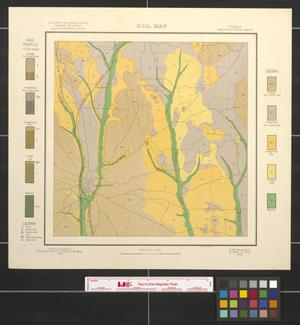 Primary view of object titled 'Soil map, Texas, Nacogdoches sheet'.
