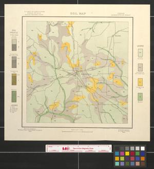 Soil map, Texas, Jacksonville sheet