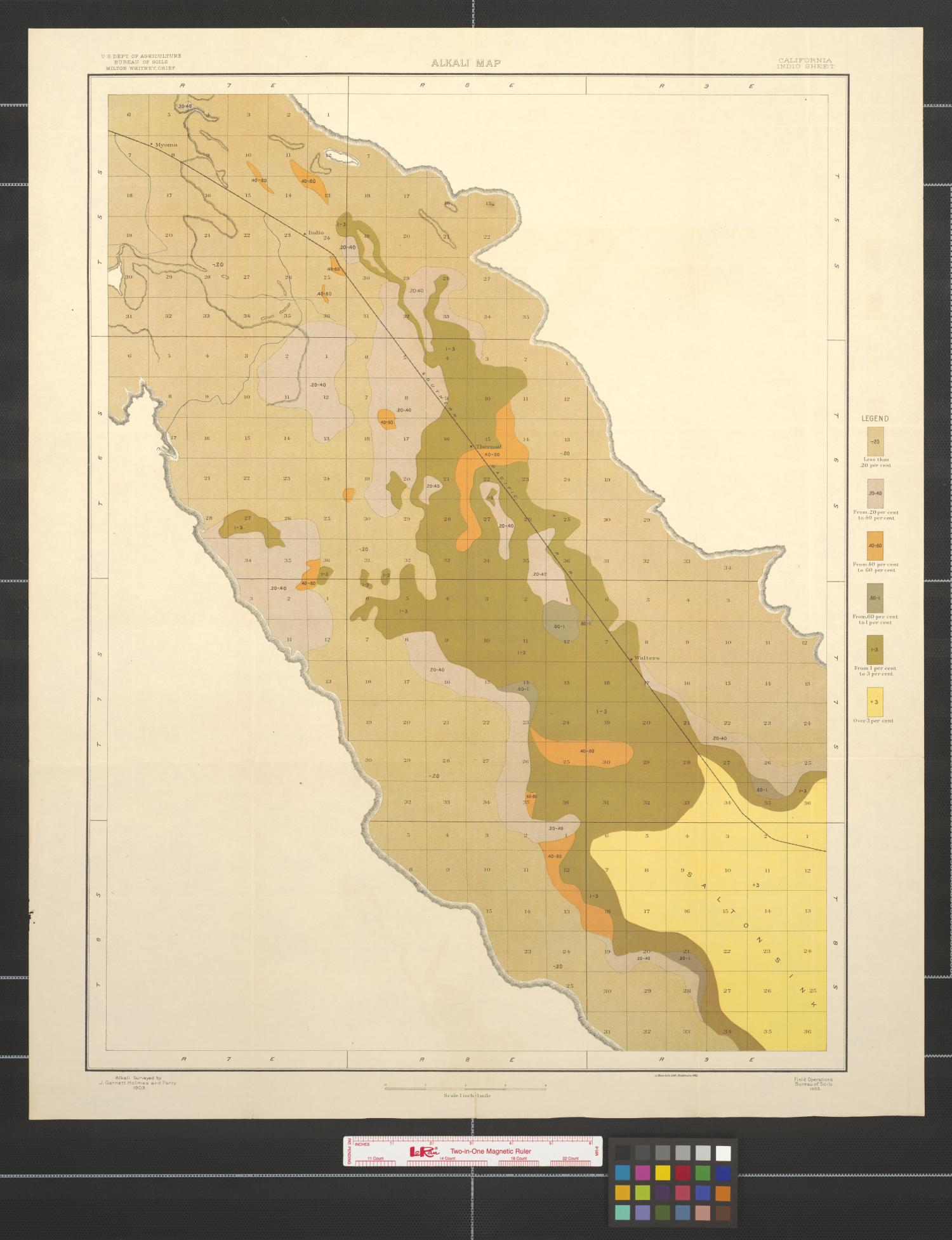 Alkali map, California, Indio sheet.                                                                                                      [Sequence #]: 1 of 2