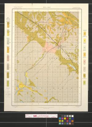 Primary view of object titled 'Soil map, Minnesota, Marshall sheet'.