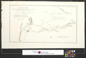 Primary view of object titled 'Map no. 4 showing continuation of Fort Smith and Santa Fé route from Tucumcari Creek to Santa Fé.'.