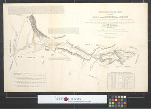 Primary view of object titled 'Topographical map of the road from Missouri to Oregon : commencing at the mouth of the Kansas in the Missouri River and ending at the mouth of the Wallah Wallah in the Columbia [Sheet 3].'.