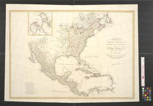 Primary view of A map of North America published under the patronage of the Duke of Orleans by d'Anville.