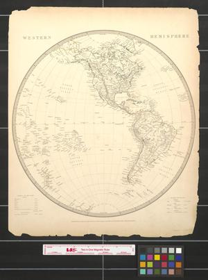 Primary view of object titled 'Western Hemisphere.'.