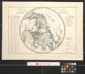 Primary view of Mappemonde, sur le plan de l'equateur hemisphère septentrional.