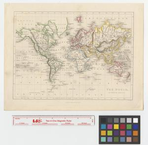 Primary view of object titled 'The world, on Mercator's projection'.