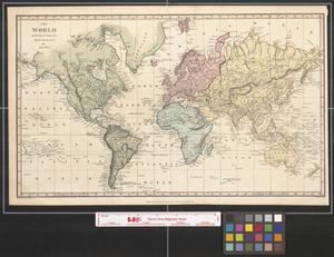 Primary view of object titled 'The world on Mercator's projection with the new discoveries by Capt. Parry.'.