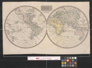Primary view of object titled 'The world, with the tracts & discoveries of the latest navigators.'.