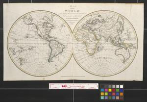 Primary view of object titled 'Map of the world including the most recent tracts and discoveries of the latest navigators.'.