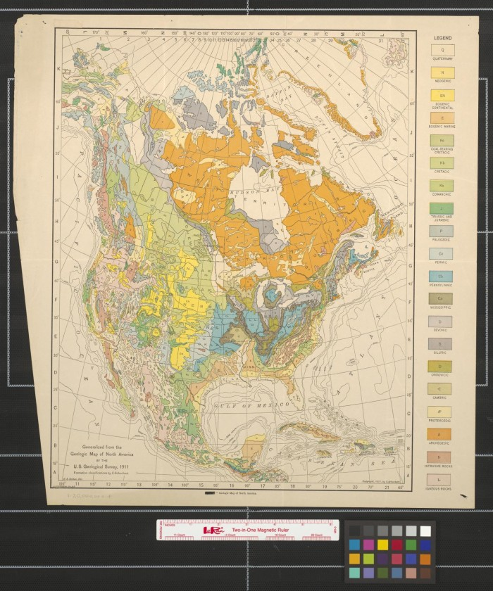 Geologic Map Of North America The Portal To Texas History