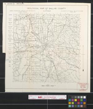 Primary view of object titled 'Geological map of Dallas County.'.
