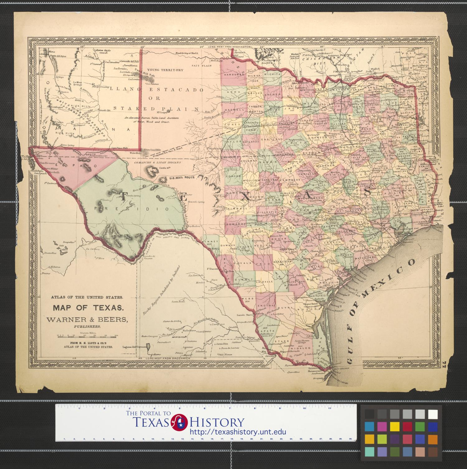 Map of Texas.                                                                                                      [Sequence #]: 1 of 2