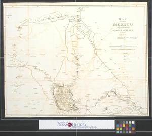 Primary view of object titled 'Map of a part of Mexico exhibiting the author's route from Vera Cruz to Mexico and thence to Tampico : Drawn from the author's notes and other documents.'.