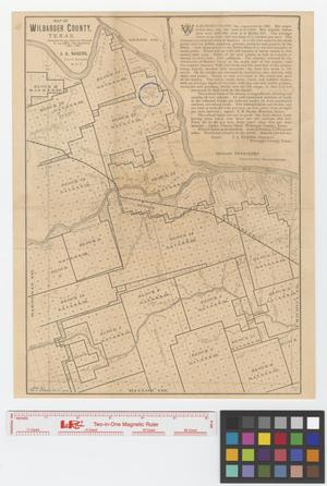 Primary view of object titled 'Map of Wilbarger County, Texas.'.