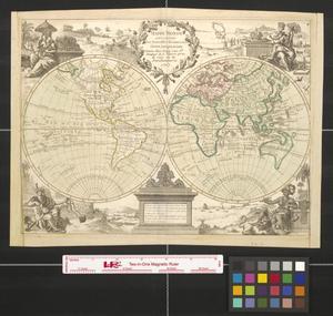 Primary view of Mappe monde qui comprend les nouvelles découvertes faites jusqu'a ce jour.