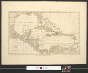 Primary view of object titled 'An index map to the following sixteen sheets being a compleat [sic.] chart of the West Indies with letters in the margin to direct the placing the different sheets in their proper places..'.