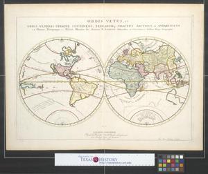 Primary view of Orbis vetus, et orbis veteris utraque continens, terrarumque tractus, Arcticus, et Antarcticus.
