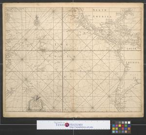 Primary view of object titled 'A generall [sic.] chart of the South Sea from the River of Plate to Dampiers Streights on ye coast of New Guinea'.