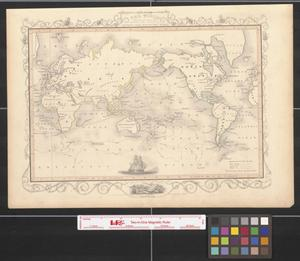 Primary view of object titled 'The world on Mercator's projection shewing [sic.] the tracks of Captain Cook round the world.'.