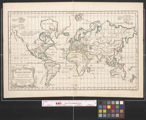Primary view of Mappemonde suivant la projection des cartes reduites.