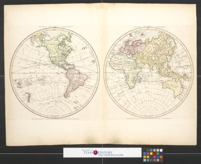 Western Hemisphere or New World [and] Eastern Hemisphere or ...