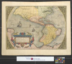Primary view of Americae sive novi orbis, nova descriptio.