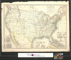 Primary view of object titled 'The United States & the relative position of the northern states and the southern confederated states'.