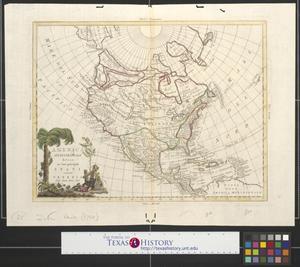 Primary view of America settentrionale divisa nei suoi principali stati.