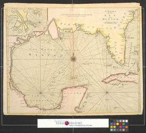 Primary view of object titled 'A chart of the Bay of Mexico.'.