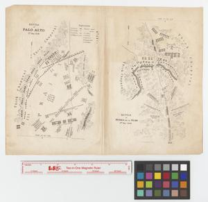 Primary view of object titled 'Battle of Resaca de la Palma, 9th May 1846 [and the] Battle of Palo Alto, 8th May 1846.'.