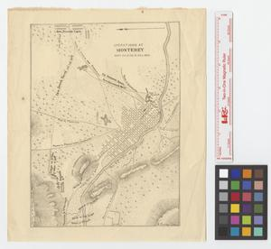 Primary view of object titled 'Operations at Monterey Sept. 20, 21, 22, & 23rd, 1846.'.