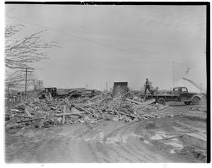 Primary view of object titled 'Removing Debris from the Old London School Explosion'.