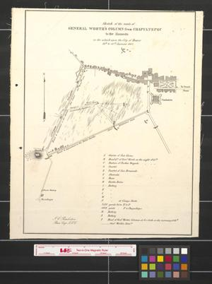 Primary view of object titled 'Sketch of the route of General Worth's column from Chapultepec to the Alameda in the attack upon the city of Mexico, 13th & 14th September 1847'.