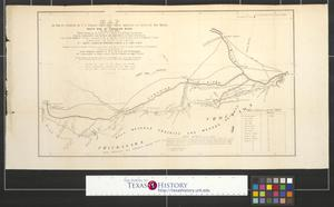 Primary view of object titled 'Map of route pursued by U.S. troops from Fort Smith, Arkansas, to Santa Fé, New Mexico, via south side of Canadian River in the year 1849.'.