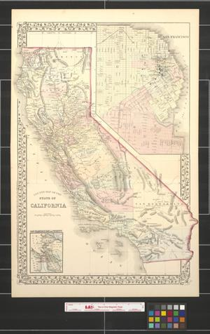 Primary view of object titled 'County map of the state of California.'.