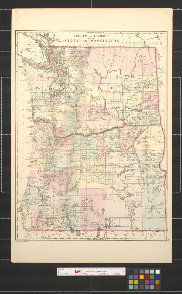 County and township map of Oregon and Washington. - The Portal to ...